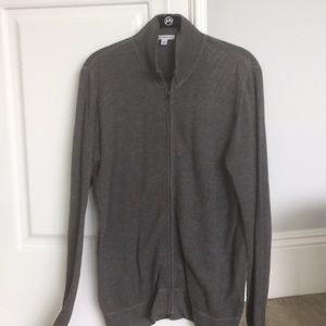 James Perse lightweight thermal zip up jacket